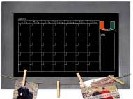 Miami Hurricanes Monthly Chalkboard with Frame