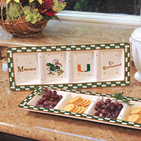 Miami Hurricanes NCAA Ceramic Relish Tray
