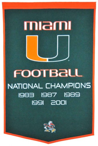 Winning Streak Miami Hurricanes NCAA Football Dynasty Banner