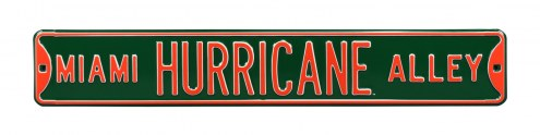 Miami Hurricanes NCAA Embossed Street Sign