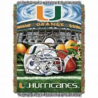 Miami Hurricanes Home Field Advantage Throw Blanket