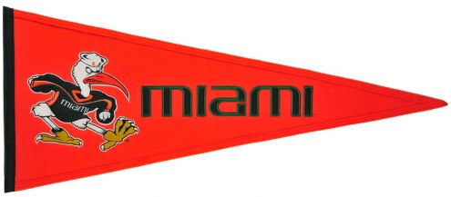 Winning Streak Miami Hurricanes NCAA Traditions Pennant