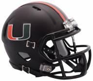 Miami Hurricanes Riddell Speed Mini Collectible Football Helmet