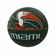 Miami Hurricanes Official Size Rubber Basketball