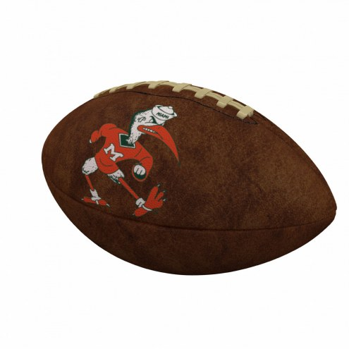 Miami Hurricanes Official Size Vintage Football