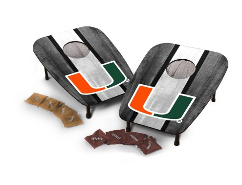 Miami Hurricanes One Hole Bag Toss Game