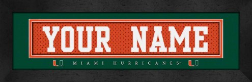 Miami Hurricanes Personalized Stitched Jersey Print