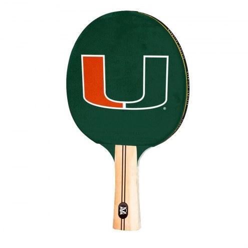 Miami Hurricanes Ping Pong Paddle