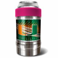 Miami Hurricanes Pink 12 oz. Locker Vacuum Insulated Can Holder