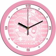 Miami Hurricanes Pink Wall Clock