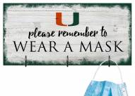 Miami Hurricanes Please Wear Your Mask Sign