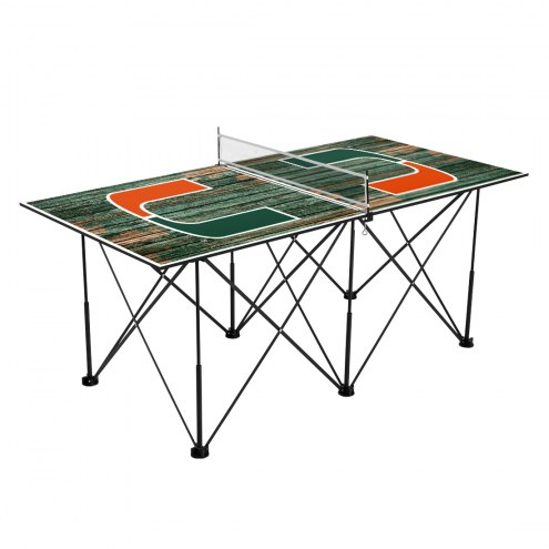 Miami Hurricanes Pop Up 6' Ping Pong Table