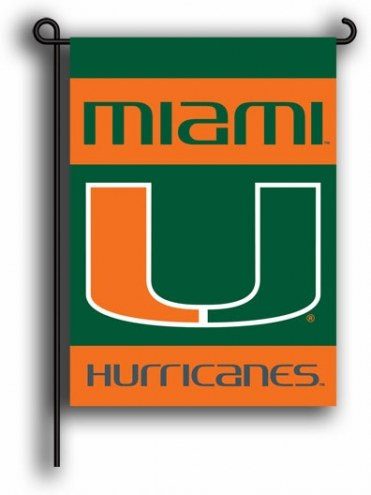 Miami Hurricanes Premium 2-Sided Garden Flag