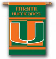 """Miami Hurricanes Premium 28"""" x 40"""" Two-Sided Banner"""