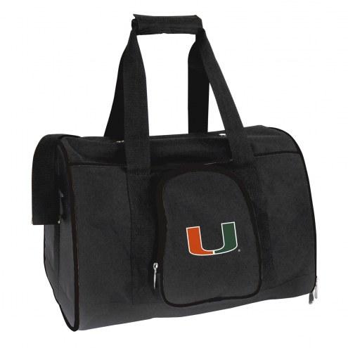 Miami Hurricanes Premium Pet Carrier Bag
