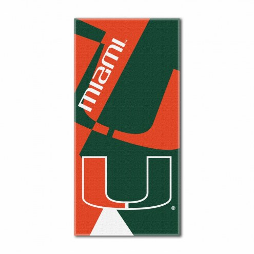 Miami Hurricanes Puzzle Beach Towel