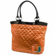 Miami Hurricanes Quilted Tote Bag
