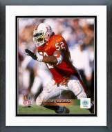 Miami Hurricanes Ray Lewis Action Framed Photo