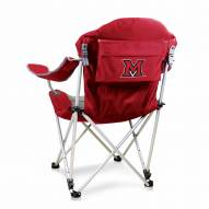 Miami Hurricanes Red Reclining Camp Chair