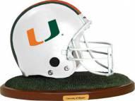 Miami Hurricanes Collectible Football Helmet Figurine