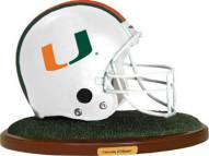Miami Hurricanes Collectible Football Helmet Figurine