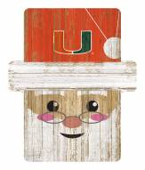Miami Hurricanes Santa Ornament