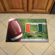 Miami Hurricanes Scraper Door Mat