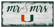 Miami Hurricanes Script Mr. & Mrs. Sign
