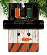 Miami Hurricanes Snowman Ornament