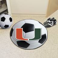 Miami Hurricanes Soccer Ball Mat