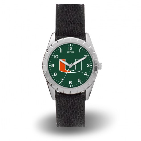 Miami Hurricanes Sparo Men's Nickel Watch