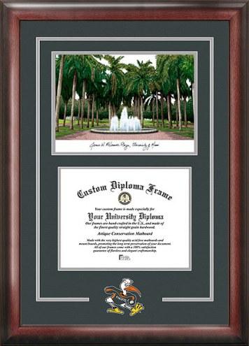 Miami Hurricanes Spirit Diploma Frame with Campus Image
