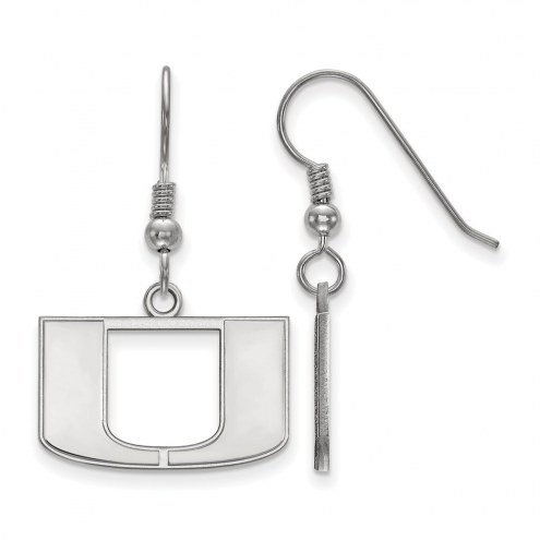 Miami Hurricanes Sterling Silver Small Dangle Earrings