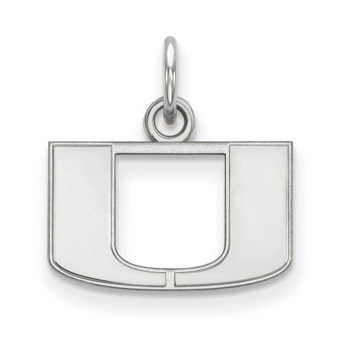 Miami Hurricanes Sterling Silver Extra Small Pendant