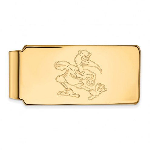 Miami Hurricanes Sterling Silver Gold Plated Money Clip