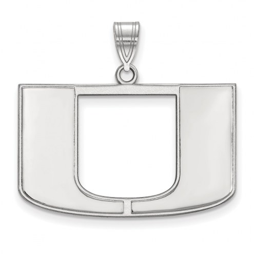 Miami Hurricanes Sterling Silver Large Pendant