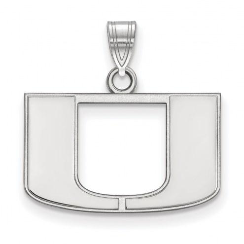 Miami Hurricanes Sterling Silver Small Pendant