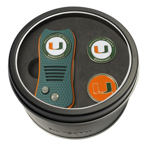 Miami Hurricanes Switchfix Golf Divot Tool & Ball Markers