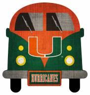 Miami Hurricanes Team Bus Sign