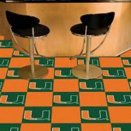 Miami Hurricanes Team Carpet Tiles