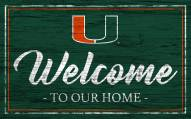 Miami Hurricanes Team Color Welcome Sign
