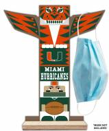 Miami Hurricanes Totem Mask Holder