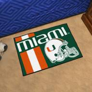 Miami Hurricanes Uniform Inspired Starter Rug