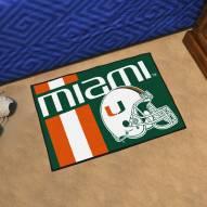 Miami Hurricanes Uniform Inspired Starter Rug