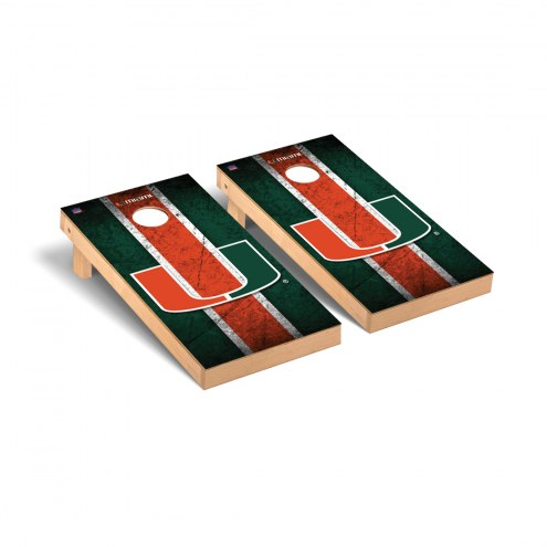 Miami Hurricanes Vintage Cornhole Game Set