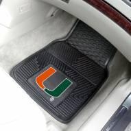 Miami Hurricanes Vinyl 2-Piece Car Floor Mats