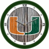 Miami Hurricanes Weathered Wall Clock