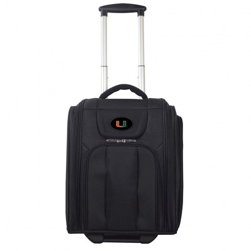 Miami Hurricanes Wheeled Business Tote Laptop Bag