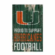Miami Hurricanes Proud to Support Wood Sign