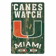 Miami Hurricanes Slogan Wood Sign